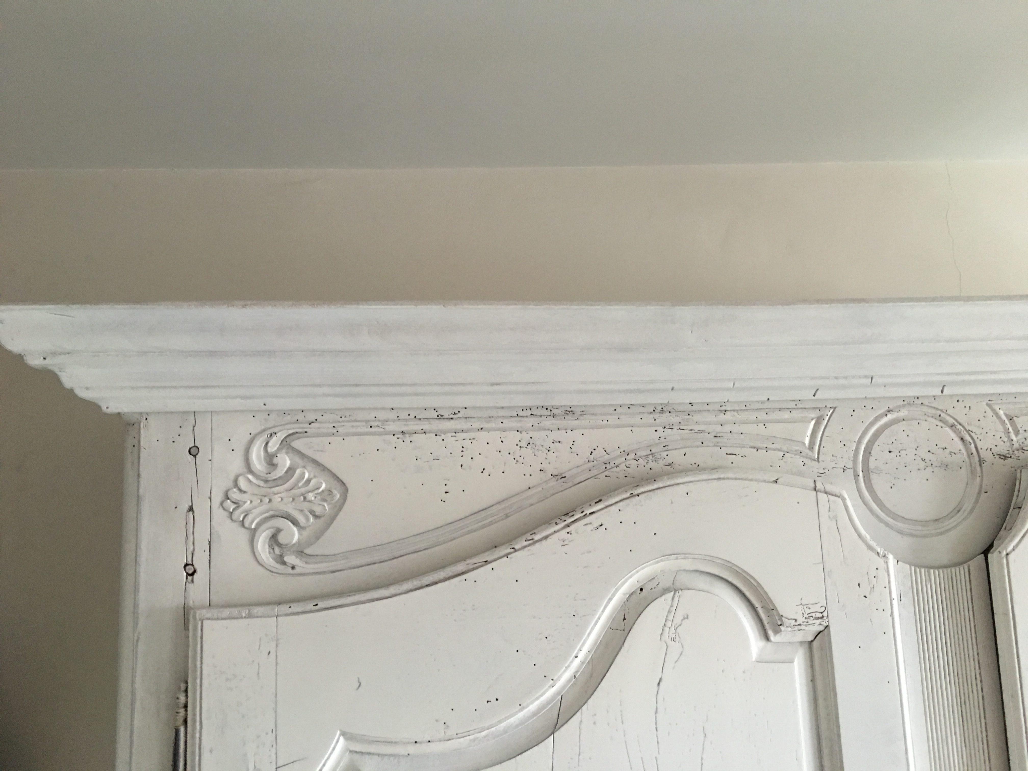 zoom armoire chene laque ivoire