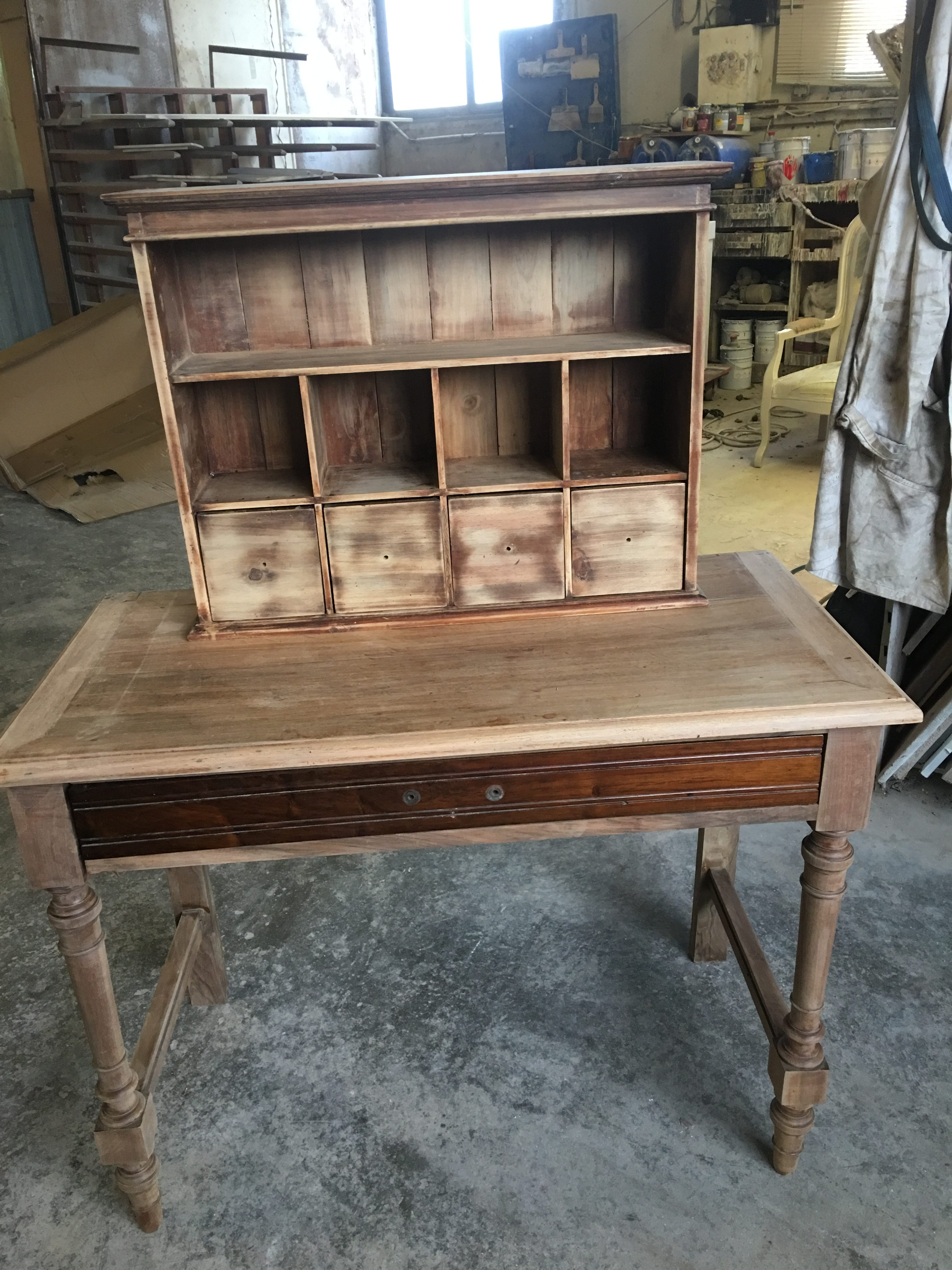 table  avec rajout haut indépendant bois exotique