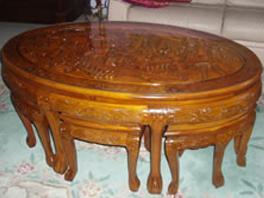 table orientale teck après restauration
