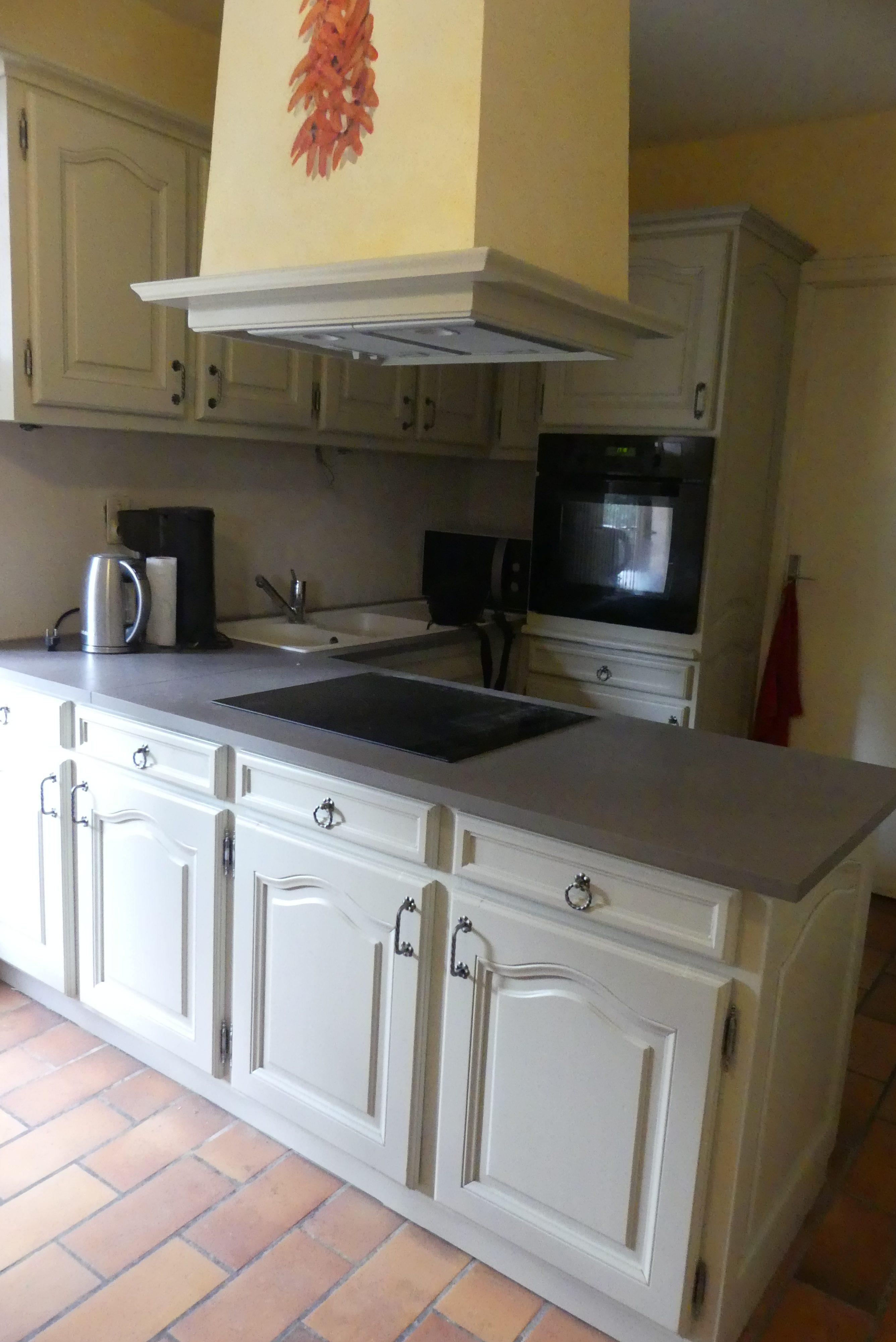 cuisine acajou laquée gris clair