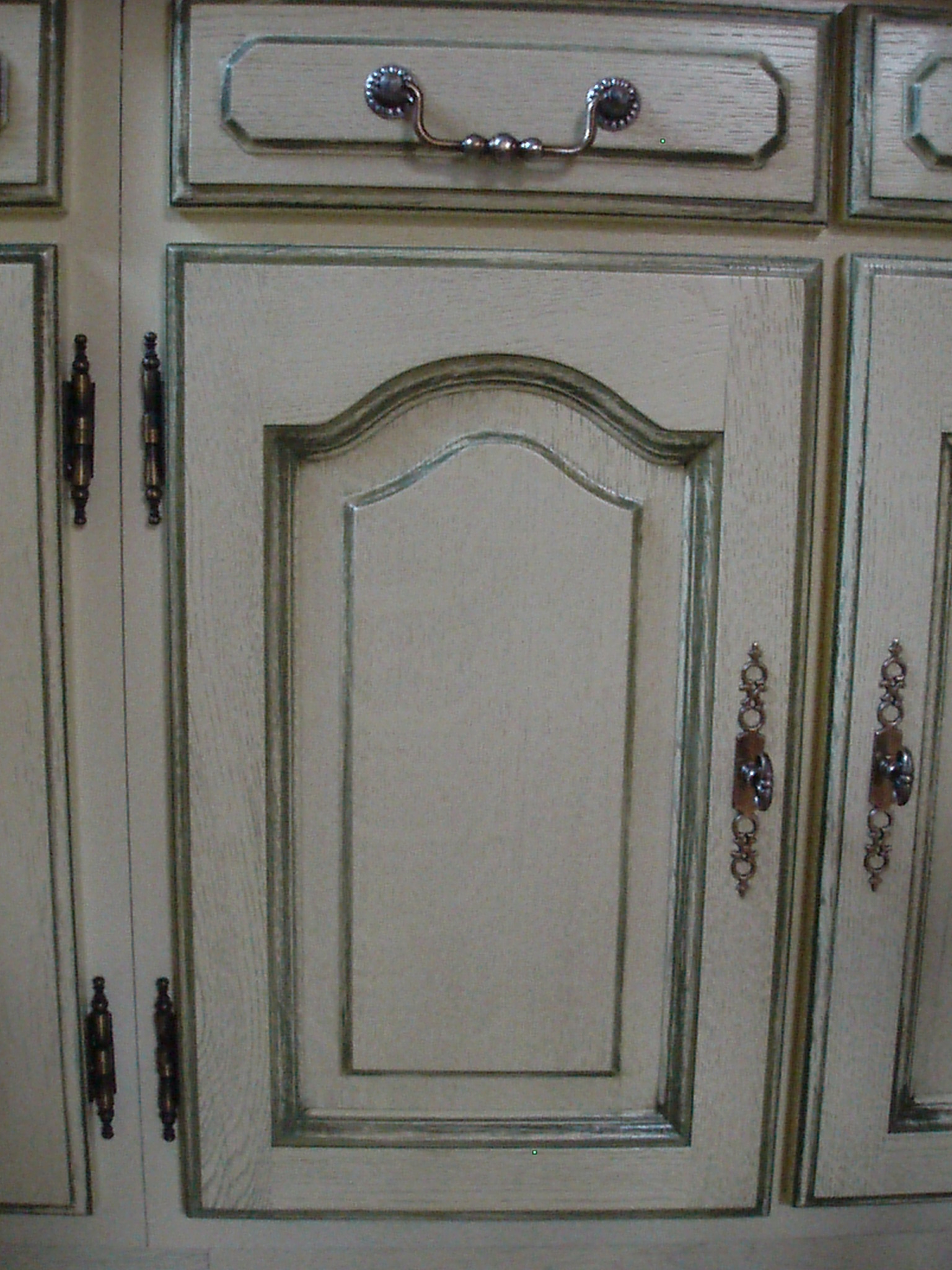 zoom porte ivoire/ rechampi vert